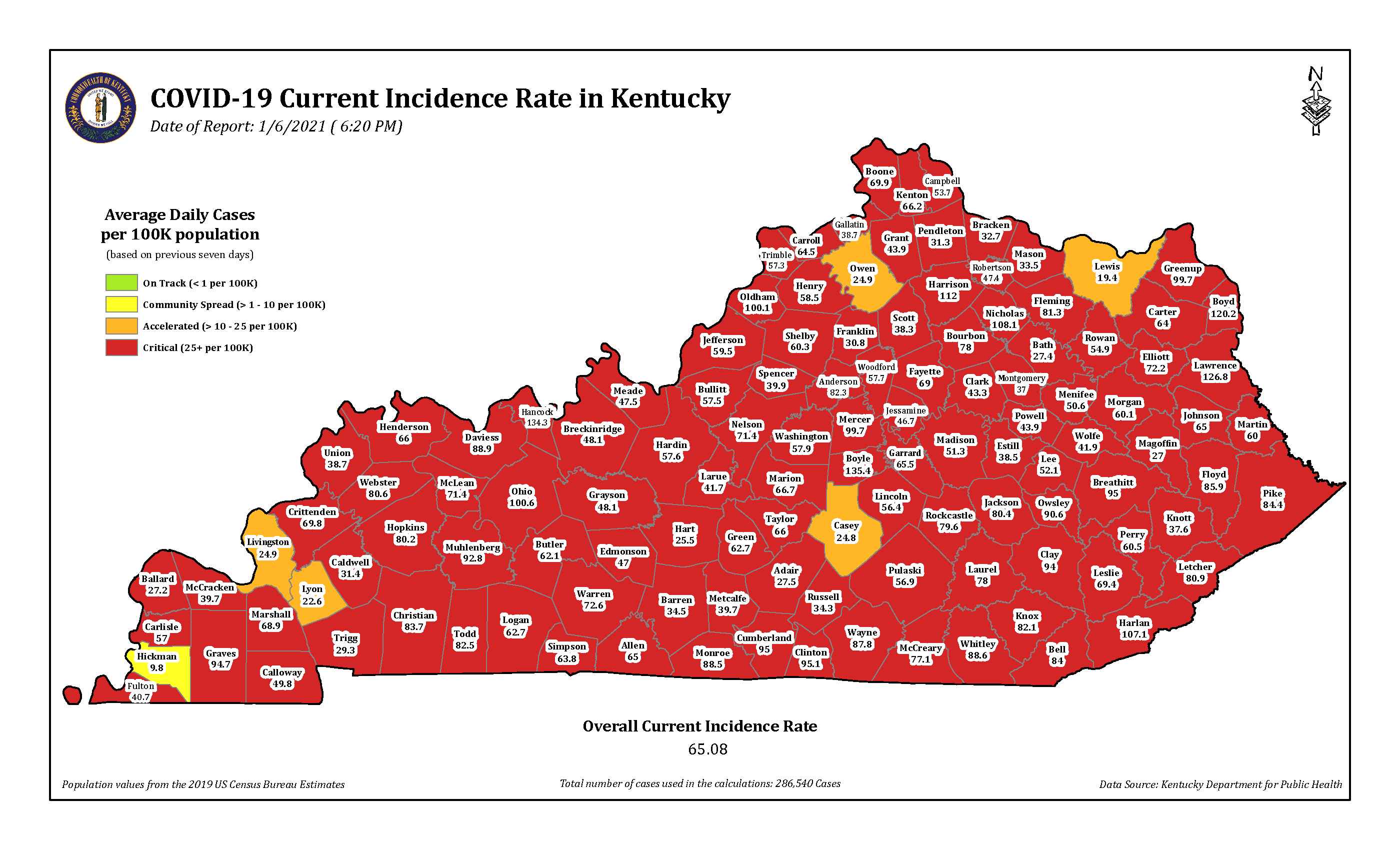 Kentucky sets new one-day record for COVID cases