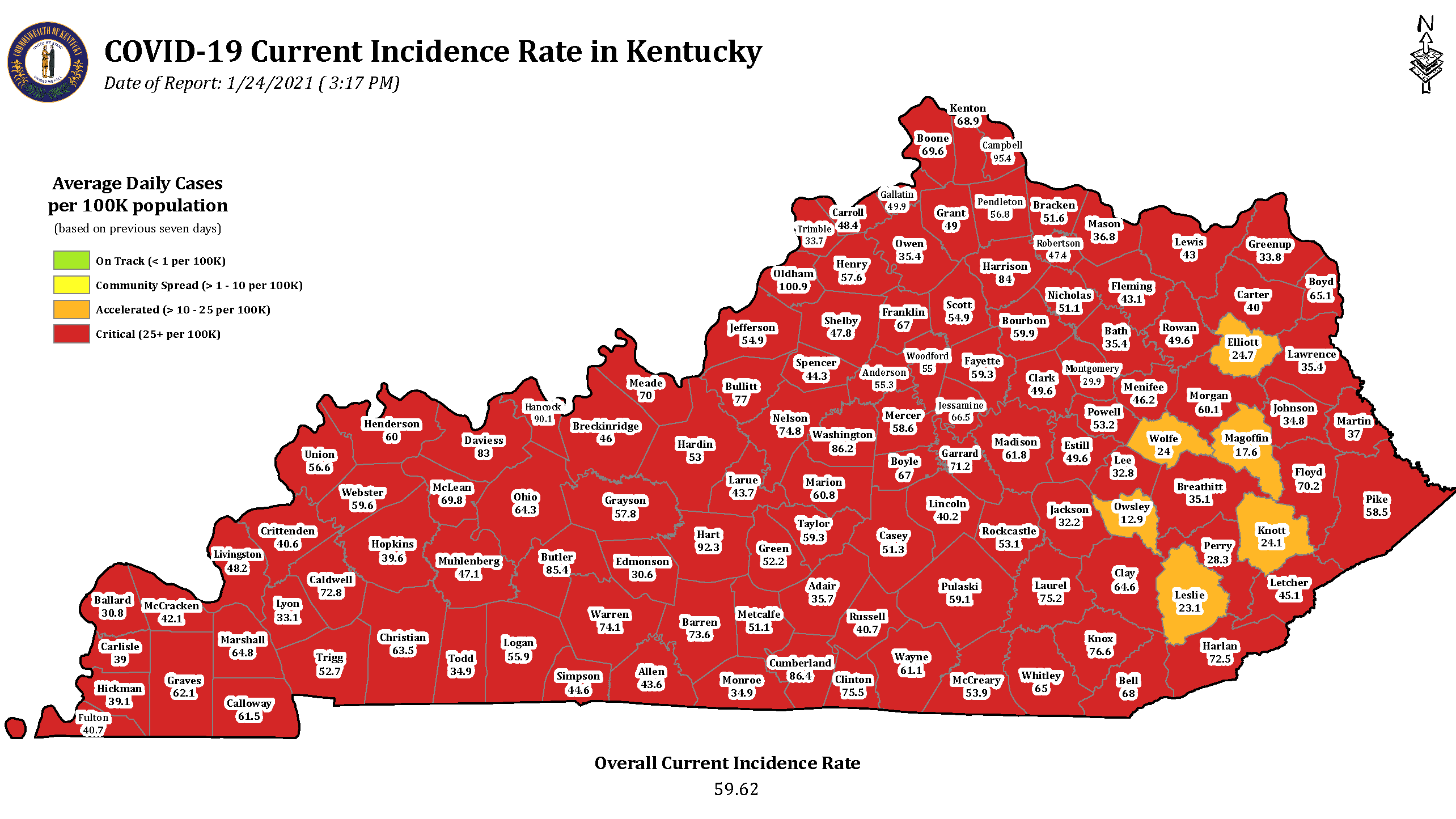 Kentucky COVID cases continue to fall