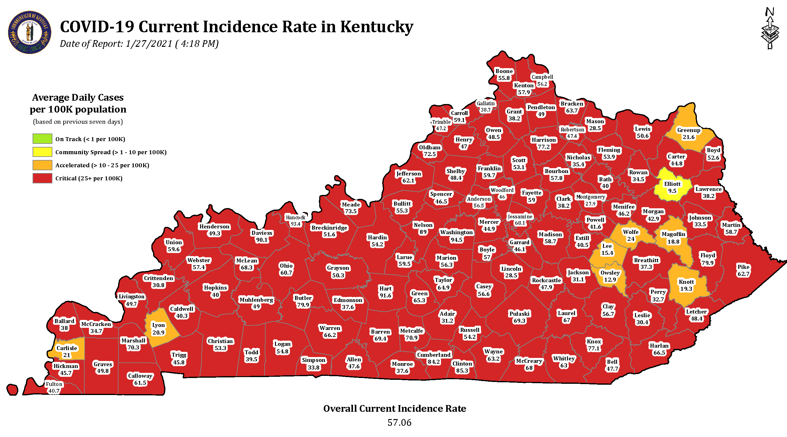 Ky. positivity rate continues to fall