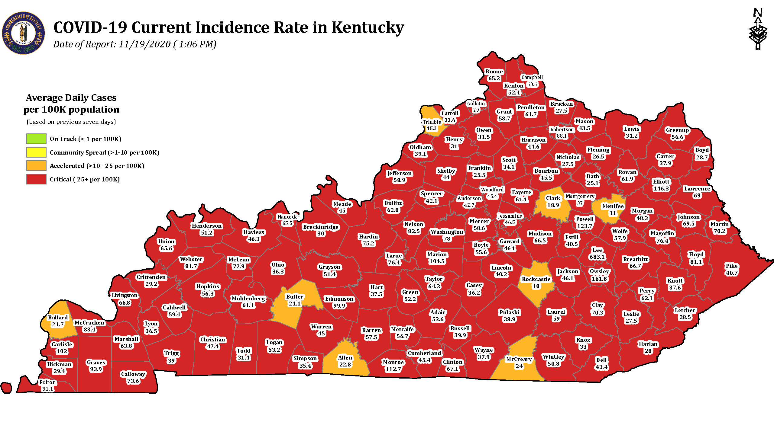 Kentucky sets another daily record for COVID-19
