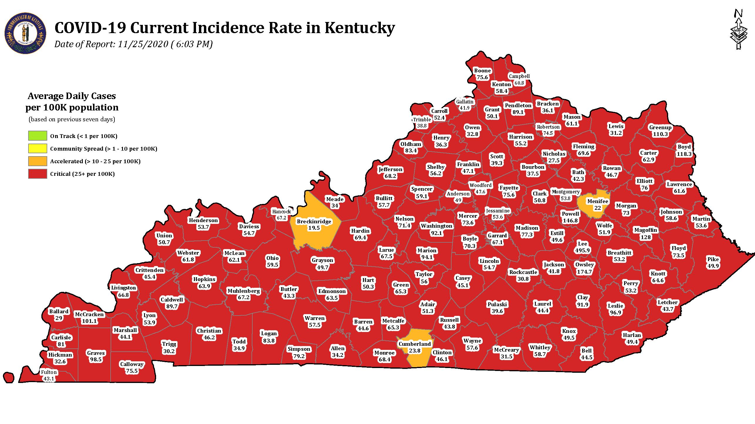 Virus continues to spread across Kentucky
