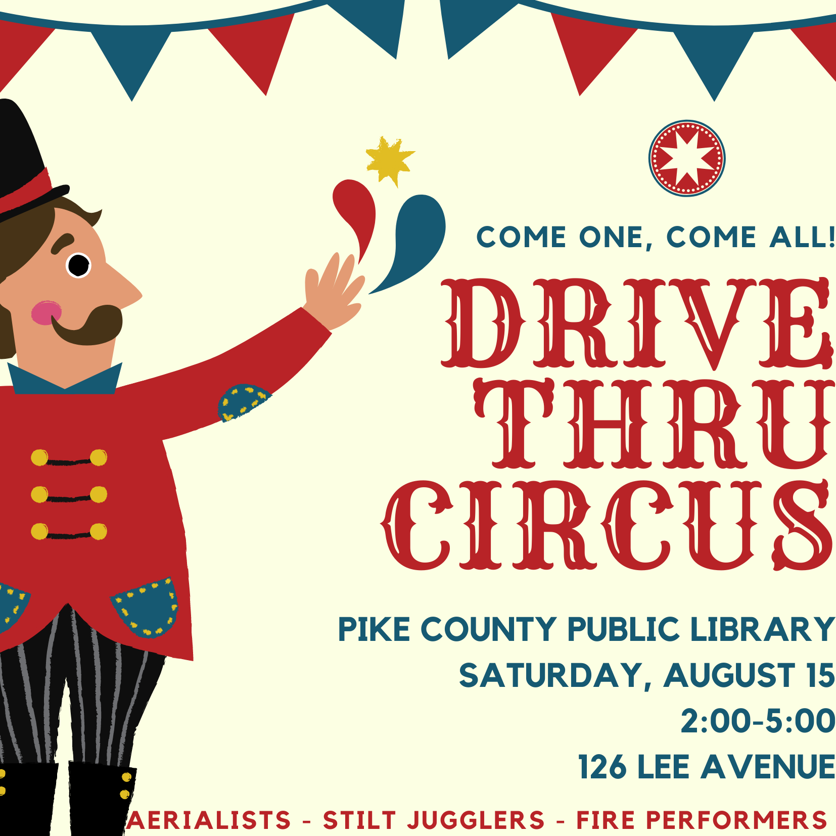 "Free ""Drive-Thru Circus"" to take place at Pike County Public Library"