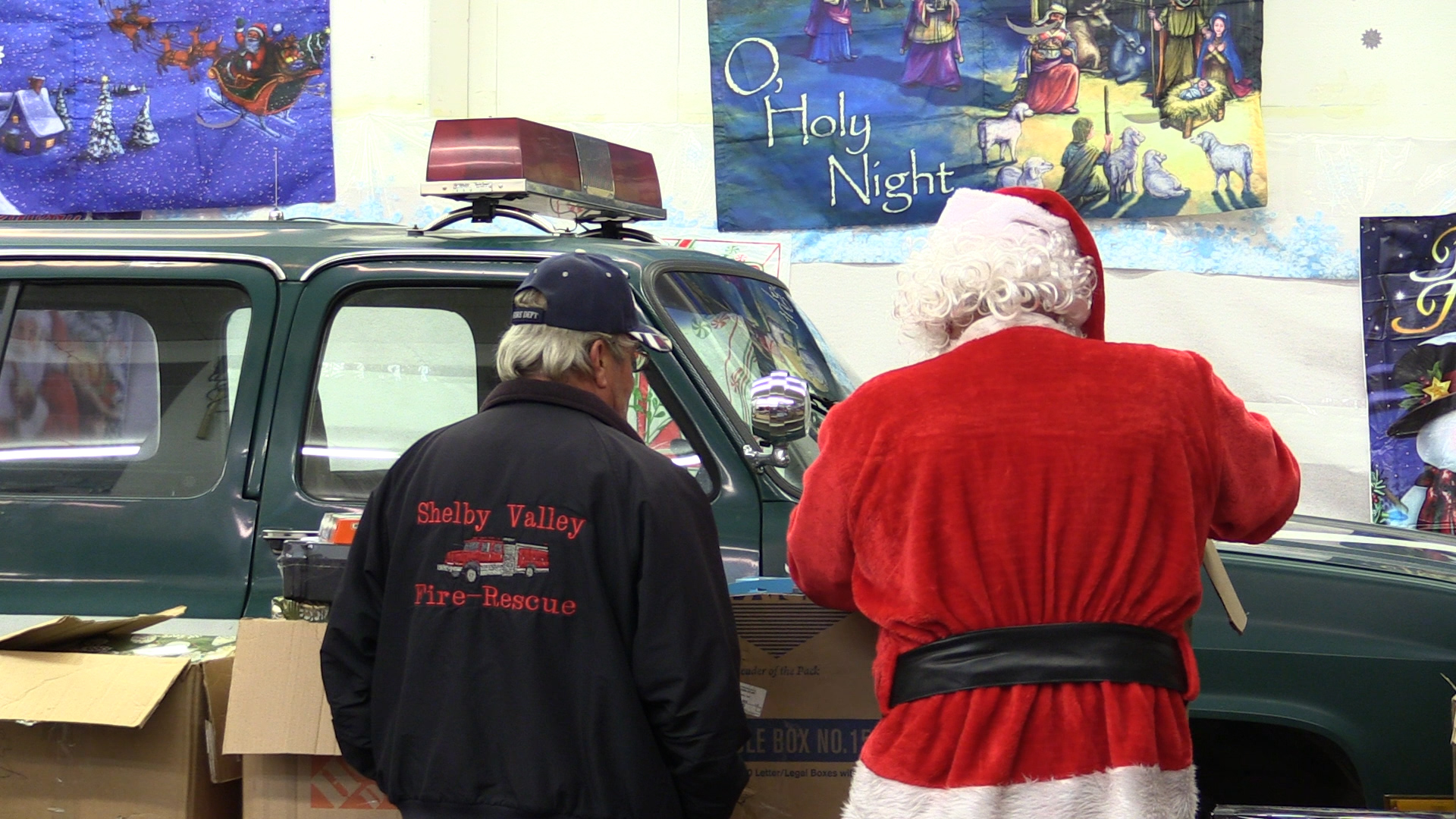 Shelby Valley firefighters give Christmas gifts to kids