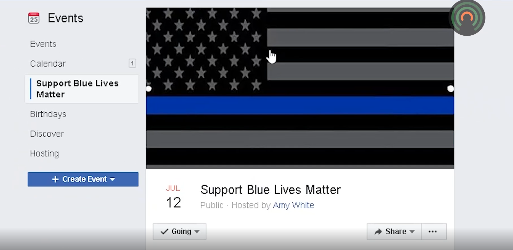 """Locals organize """"Support Blue Lives Matter"""" event to honor law enforcement officers"""