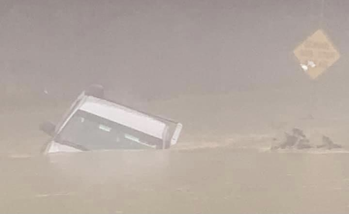 Firefighters rescue motorist from high water