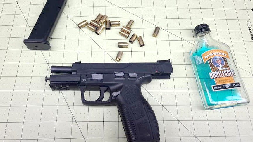 Evidence seized following Hicks' arrest.