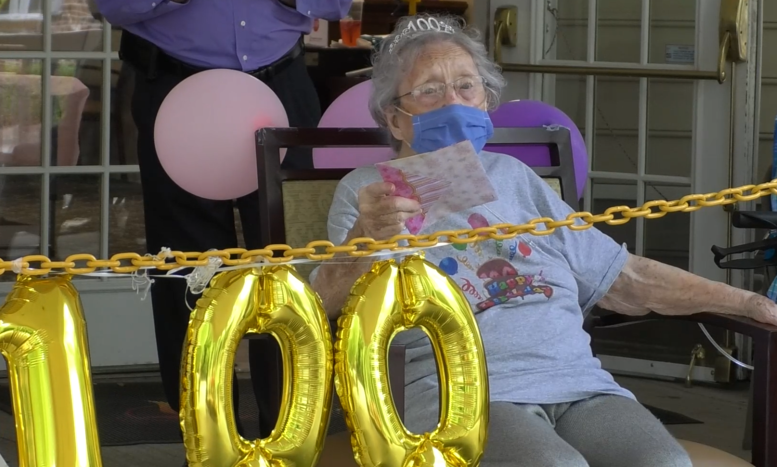 Community surprises Cedar Creek Assisted Living resident with parade on 100th birthday