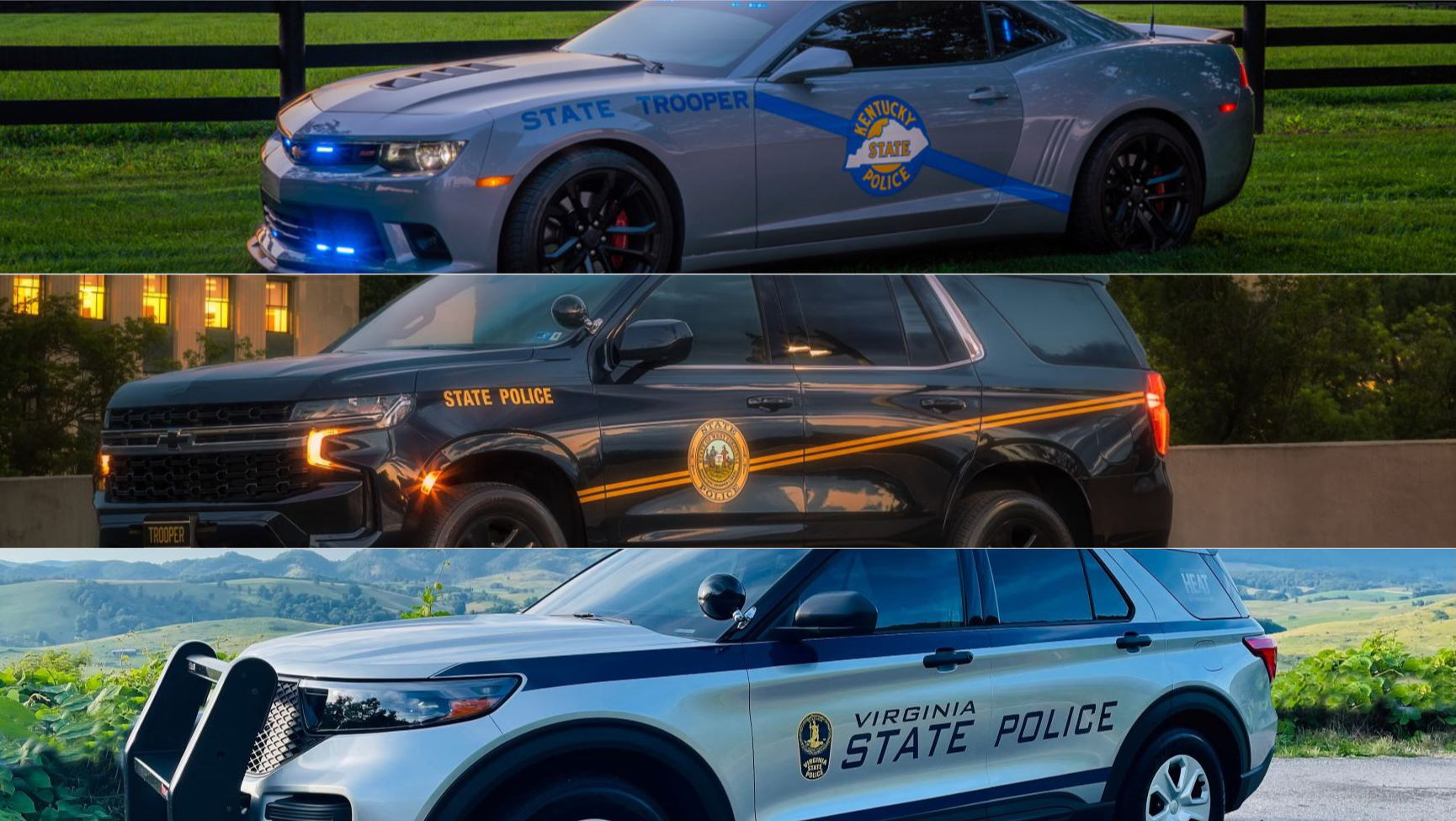 State police agencies compete to see who has best-looking cruisers