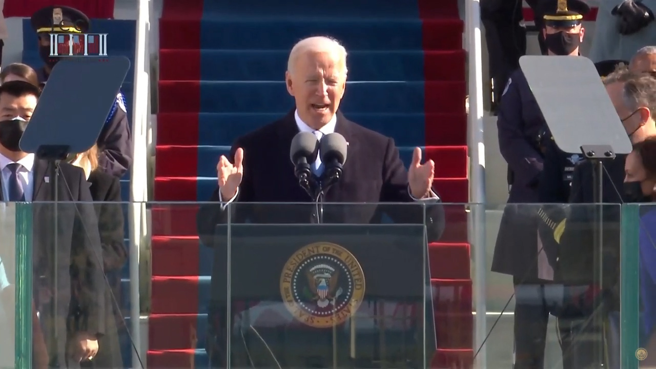 Biden takes office with appeal for unity