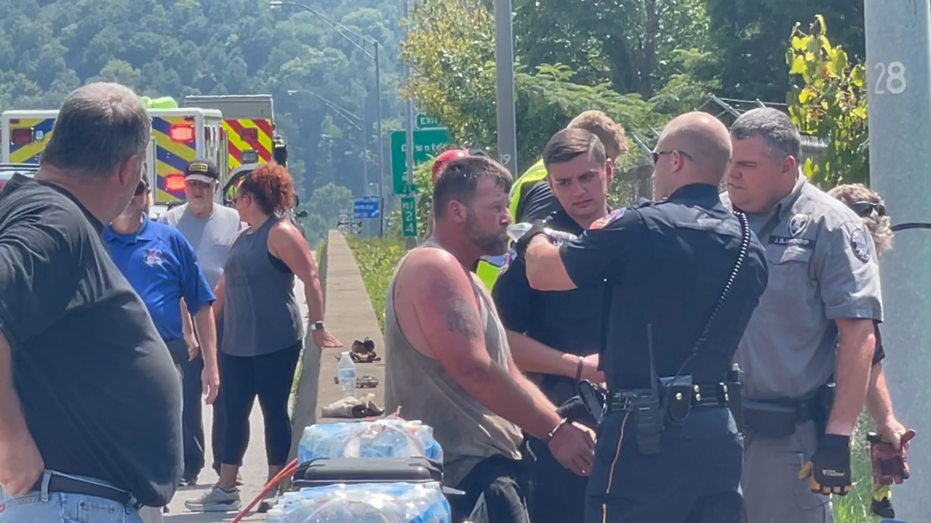 Chase turns into rescue operation, as suspect flees into Pikeville Cut-Thru