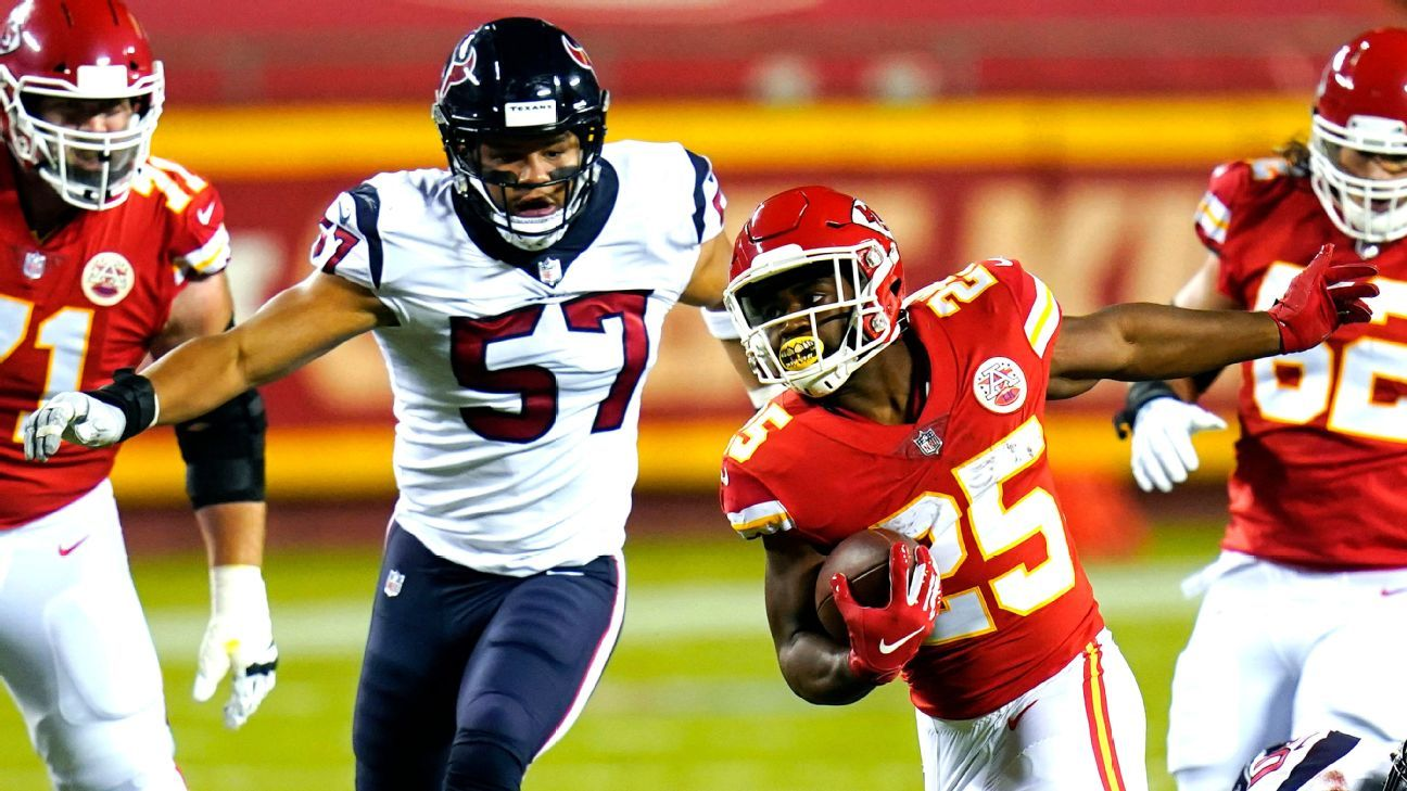 Chiefs' Clyde Edwards-Helaire breaks out for TD run in stellar debut