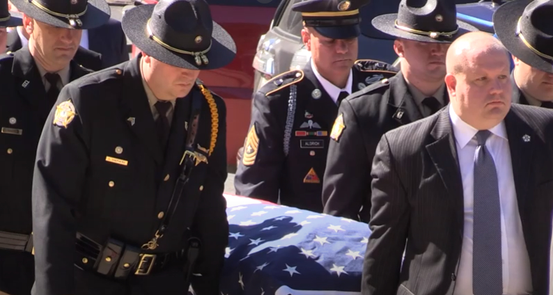 Funeral services held for fallen officer