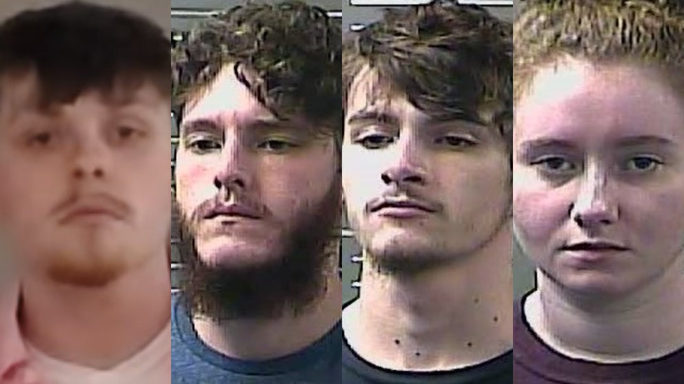 Four charged in weekend assault