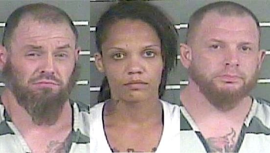 3 arrested after police find large amount of meth