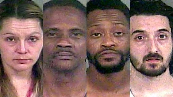 Four arrested during drug raid