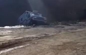 Caught on video: Massive slip claims city vehicles, equipment