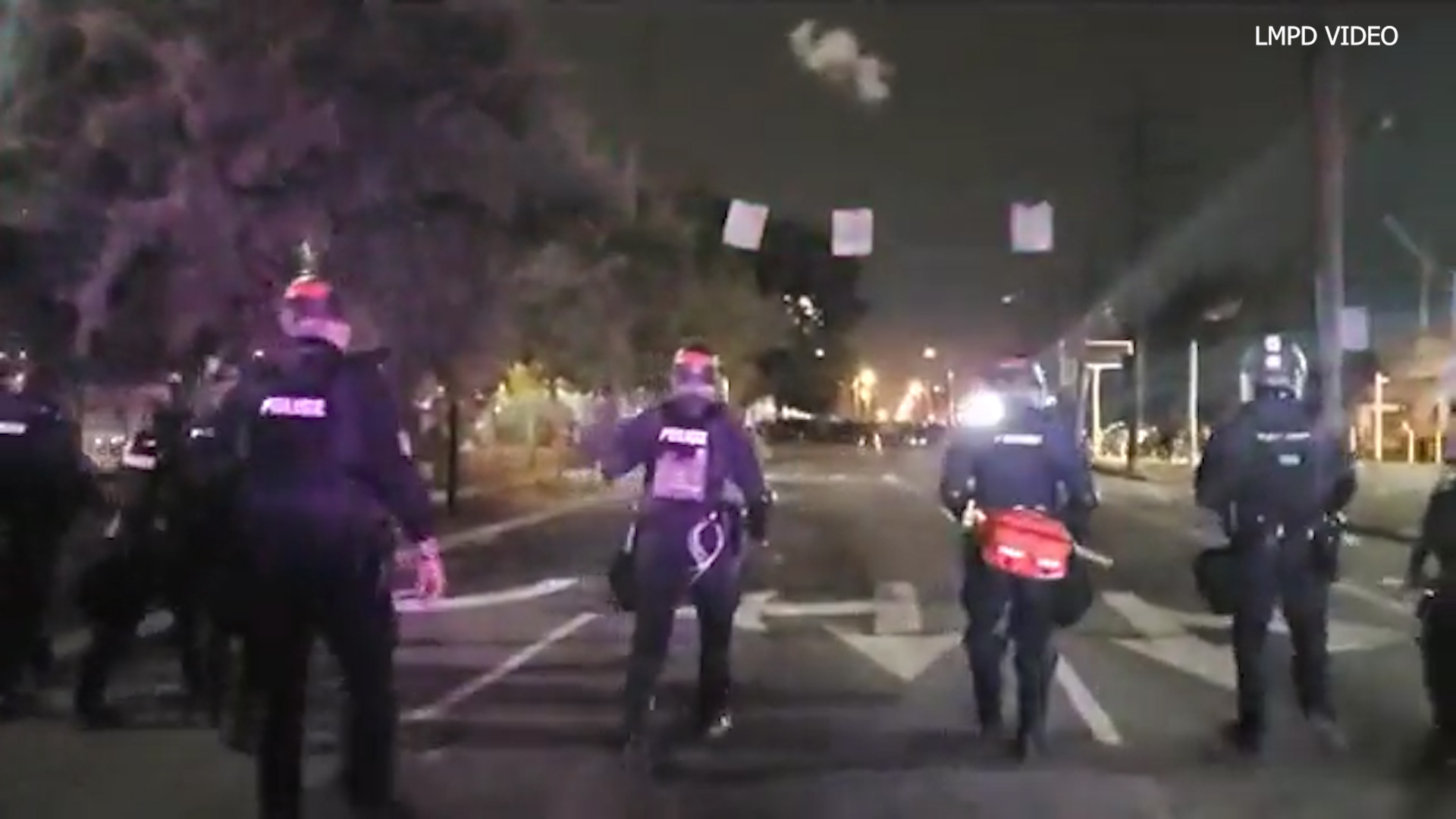 Two officers shot during protests in Louisville
