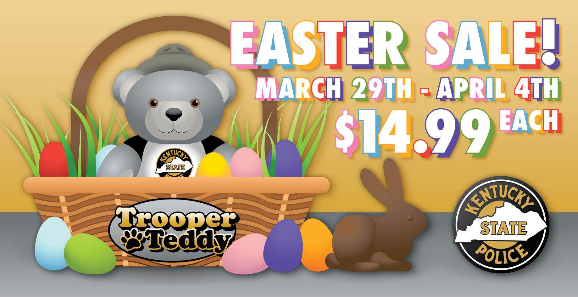KSP offering Trooper Teddy Bears for Easter