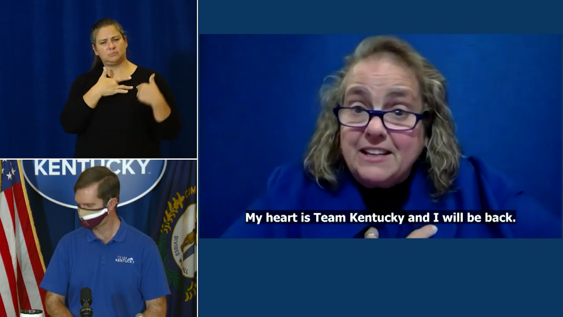 Beshear's ASL interpreter reveals cancer diagnosis